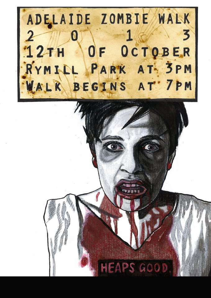 'Adelaide Zombie Walk' Poster Entry. 2013