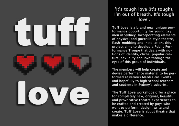 Tuff Love Promotional Flyer, 2012